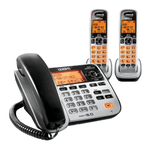 (Uniden D1688-2 Cordless Phone/Answering System with Base and 2)