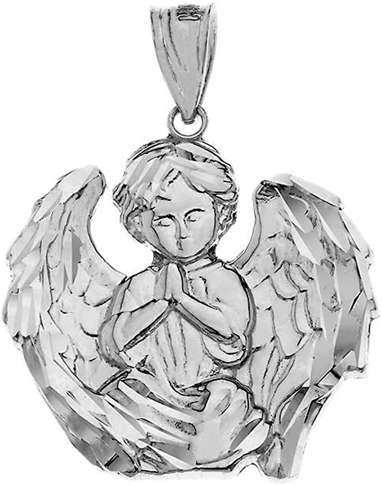 New heaven angel wings protect prayer charm Sterling Silver 925 Jewelry pendant