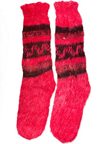 Gamboa Rustic Alpaca Socks (Red)