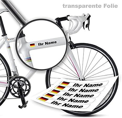 style4Bike Nombre en Gluten Presión Pegatinas para Bicicleta como ...