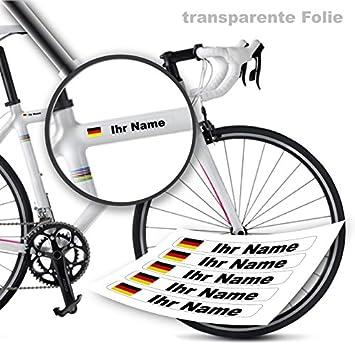 Style4bike Namensaufkleber Druck Top Qualität Fahrrad Aufkleber Name Als Aufkleber S4b0druck