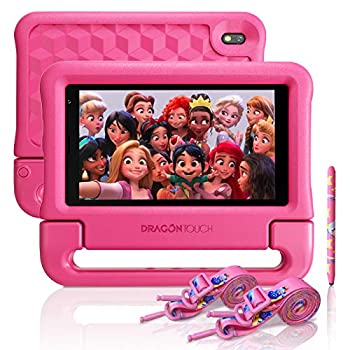 "Dragon Contact KidzPad Y88X 7 Children Pill with WiFi, Android 10, 7"" IPS HD Show, 32GB ROM, KIDOZ Pre-Put in, with Disney Licensed Contents, Child-Proof Case, Shoulder Strap and Stylus, Pink"