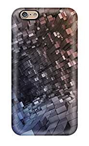 New Tpu Hard Case Premium Iphone 6 Skin Case Cover(abstract Cubes)