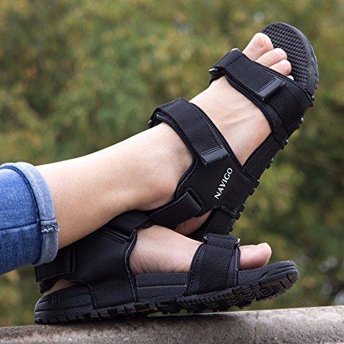 Rom Sandalen Männer Sommer Trend Das neue Strand Schuh Männer draussen Bewegung Freizeit Schuh Schüler ,schwarz,US=9,UK=8.5,EU=42 2/3,CN=44