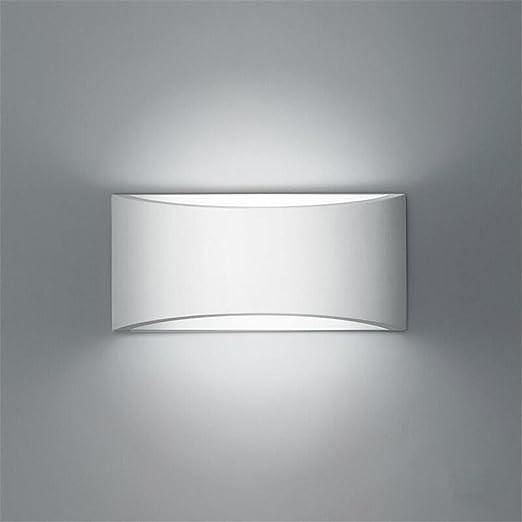 H&M Apliques de Pared Apliques Modernos de Pared Lámpara Aplique Dormitorio Escalera Pasillo iluminación LED Blanco Yeso Pared Apliques de Pared: Amazon.es: Hogar