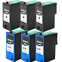 Shop At 247 « Remanufactured Ink Cartridge Replacement for Dell Series 5 (3 Black, 3 Color, 6-Pack)