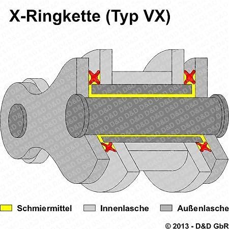 Typ DE07 extra verst/ärkt Kettensatz // Kettenkit Yamaha WR 125 R 2009-2013 DID X-Ring VX