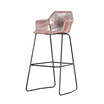 Magnificent Wzhbarstool Nordic Metal Crafted Rattan Chair Bar Chair Bralicious Painted Fabric Chair Ideas Braliciousco