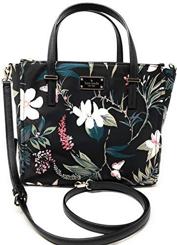 Kate Spade New York Wilson Road Botanical Alyse Satchel Crossbody Bag (Double Handle New York)