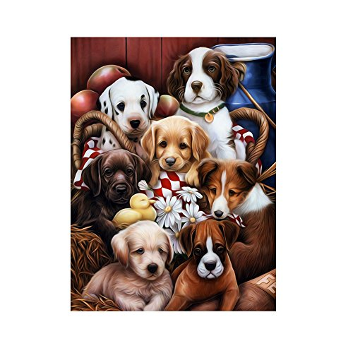 Whitelotous Dog Series DIY 5D Diamond Embroidery Painting Cr