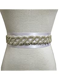 Crystal Bridal Sash,Wedding Sash Belt,Jeweled Gown Belt