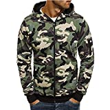 Corriee Fashion Tops for Men 2018 Cool Camouflage Zip Hooded Sweatshirts Mens Autumn Pullover Casual Go Out Hoodies
