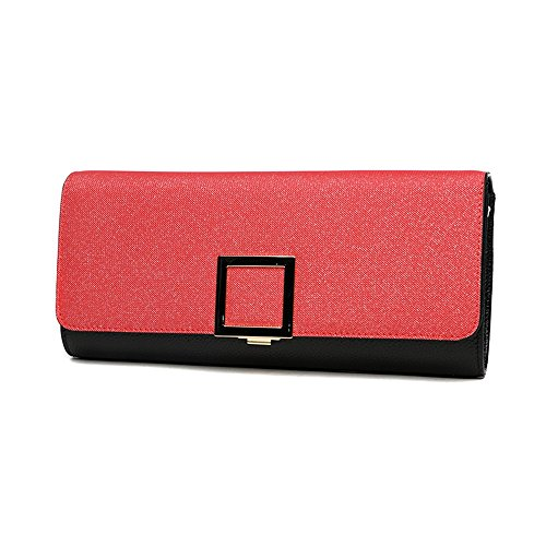 Bag Package Hand Hand Red Fashion Banquet Bag Female Dinner Red Large Leather Color Capacity Trend Folder SqT7Ht1