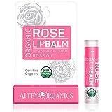 Alteya Organic Baume à lèvres avec de l'huile essentielle de Rose Bulgare 5g-Certifié organique USDA Purement Baume à lèvres nourissant basé sur un bouquet soigneusement choisi d'huiles essentielles
