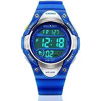 my-watch Boys Deporte Reloj digital para niños resistente al agua cronómetro de muñeca electrónica LED relojes
