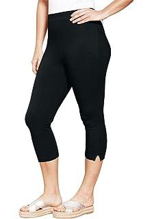 2f6aa2f6d2c Woman Within Plus Size Stretch Cotton Capri Legging at Amazon ...
