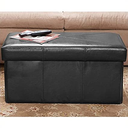 Admirable Amazon Com Noble House Trent Home Angie Leather Storage Alphanode Cool Chair Designs And Ideas Alphanodeonline
