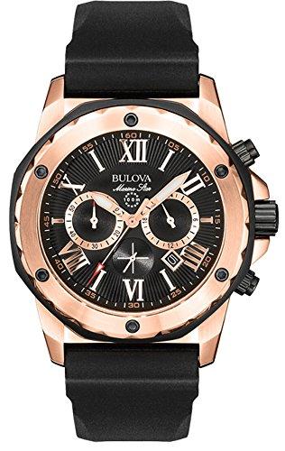 (Bulova Men's 98B104 Marine Star Calendar Stainless Steel Dress Watch )