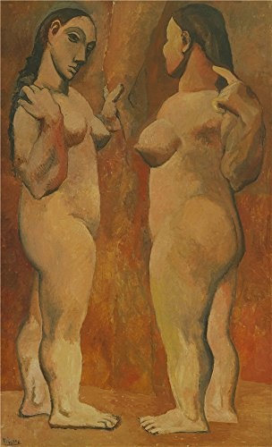 'Two Nudes' Oil Painting, 30x49 Inch / 76x125 Cm ,printed On Perfect Effect Canvas ,this High Quality Art Decorative Prints On Canvas Is Perfectly Suitalbe For Home Theater Artwork And Home Gallery Art And Gifts