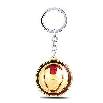 TUDUDU Capitán América Civil Guerra Llavero Rotatable Iron ...