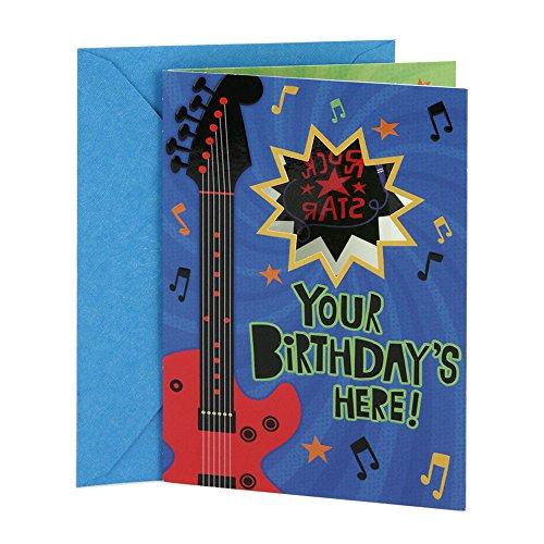 (Hallmark Birthday Card for Kids (Rock Star Temporary Tattoo))