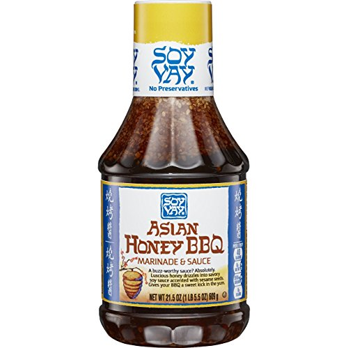 Soy Vay Asian Honey BBQ Marinade & Sauce, 21.5 Ounce Bottle (Pack of 6)