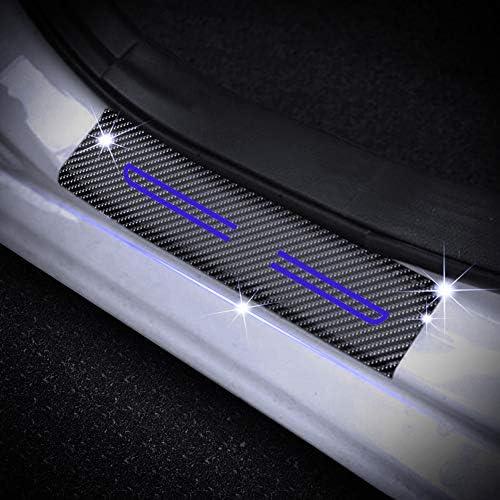 Scuff Plates Cover Paint Protection Films for i10 i20 iX20 i30 i40 i80 Tucson Genesis SANTA FE Front Rear Kick Plates Red 4Pcs Car Door Sills Protector