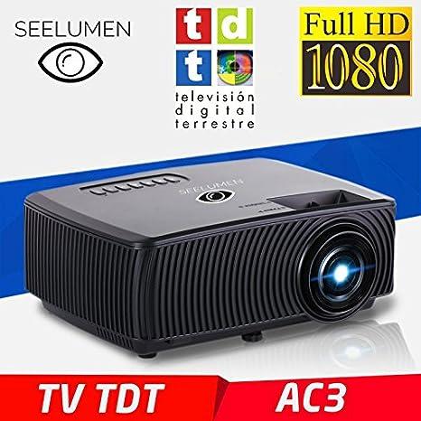 Seelumen PW100-S - Proyector Portátil LCD Full HD 1080P 2018, Maxima Luminosidad,