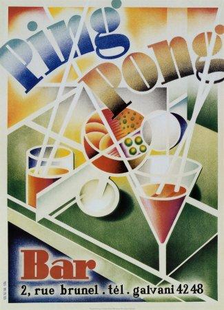 Ping Pong Bar Art Poster Print