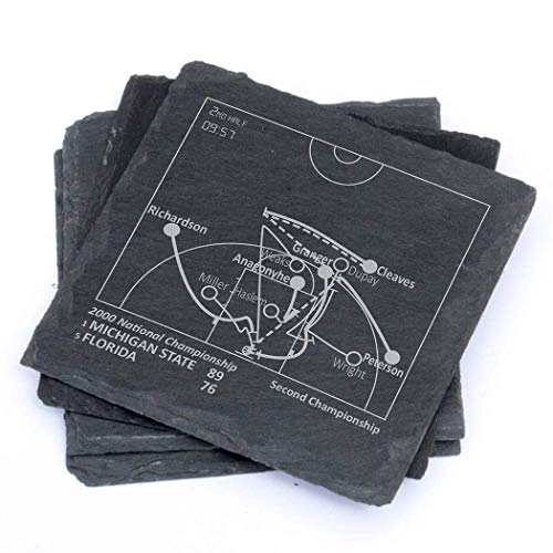 Greatest Michigan State Plays - Slate Coasters (Set of 4) ()