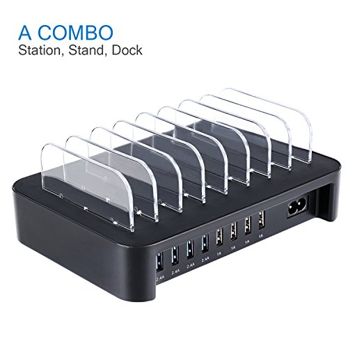 nexgadget detachable universal multi port usb charging station 50w 8 port usb charging dock. Black Bedroom Furniture Sets. Home Design Ideas