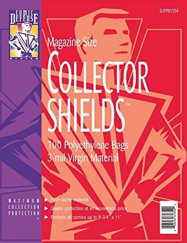 (Magazine Size Collector Shields 100 Polyethelene Bags)