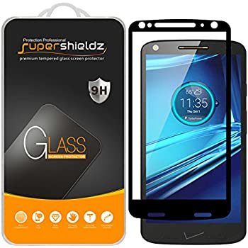 [2-Pack] Supershieldz for Motorola (Droid Turbo 2) Tempered Glass Screen Protector, [Full Screen Coverage] Anti-Scratch, Bubble Free, Lifetime Replacement ...
