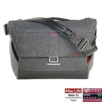 1 Stativ und Zubeh/ör Peak Design Everyday Messenger Bag 13 V2 Charcoal dunkelgrau 1-2 Objektive Fototasche f/ür 1 DSLR-Kamera 1 13-Notebook