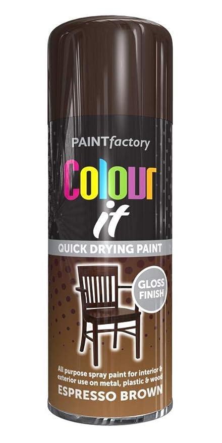 400ml Colour It Espresso Brown Gloss All Purpose Spray Paint