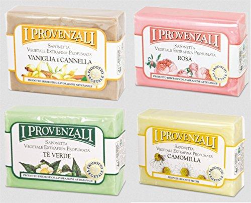 i-provenzali-set-of-four-saponetta-vegetale-vegetable-perfumed-soap-chamomile-green-tea-rose-vanilla