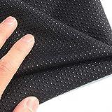 "FidgetGear Antislip Vinyl Non Slip Fabric Rubber Non Skid Rubber Treated Fabric 58"" BTY Black"