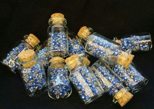 12X Baptism Party Favor White Pearl Rosary Bottle Recuerdos De Bautizo Quinceane