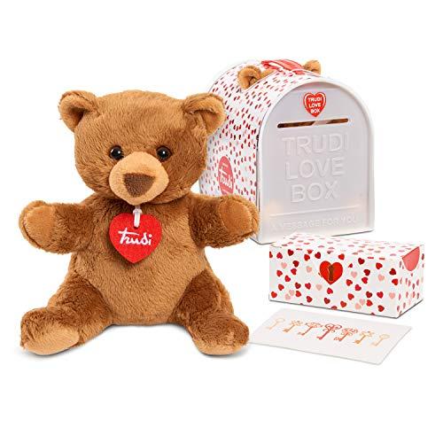 TRUDI 프리미엄 이탈리아어 디자인 사랑 상자 6.3 인치 곰 봉제 선물 세트 독점 멀티 컬러(74603)