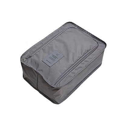 OUNONA Travel Shoes Storage Bag- Waterproof Portable Shoes Package Bag Packing Cubes Storage Bag (Grey)
