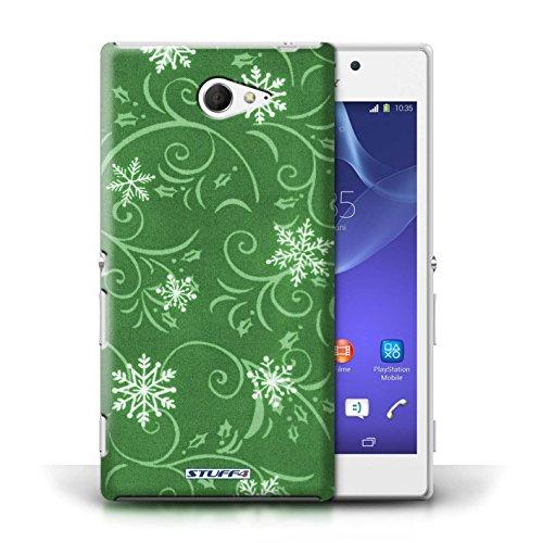 pour Sony Xperia M2 / Vert conception / Collection de Motif flocon de neige