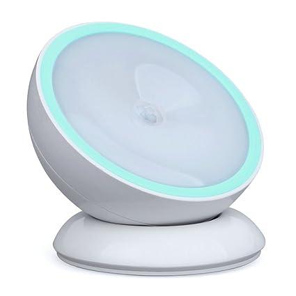 Angelbubbles Luz Nocturna Sensor 360 Base Magnética 3M Etiqueta Adhesiva (Sin Batería | Blanco cálido