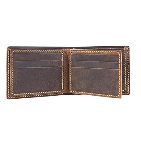 IPOTCH DIY Cuero Monedero Material para Fabricar de Billeteras de Hombre - Marrón: Amazon.es: Hogar