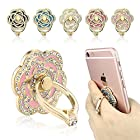 Phone Ring, ECVILLA Luxury rose shape Universal Phone Stand,Multi-Angle Portable Stand,360 Rotation 3D Aluminium Alloy Ring Grip/Phone Holder for iPhone6 6s 7 plus Samsung Galaxy Note LG HTC (pink)
