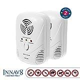 5 in 1 FULLY FEATURED Ultrasonic Pest Repellent By INNAV8 2PACK, Best Indoor ...