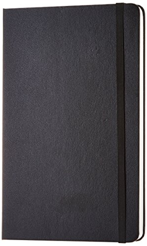 Unlined Blank Black Cover - AmazonBasics Classic Notebook - Plain