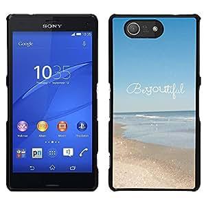 Hermoso verano motivación texto - Metal de aluminio y de plástico duro Caja del teléfono - Negro - Sony Xperia Z3 Compact / Z3 Mini (Not Z3)