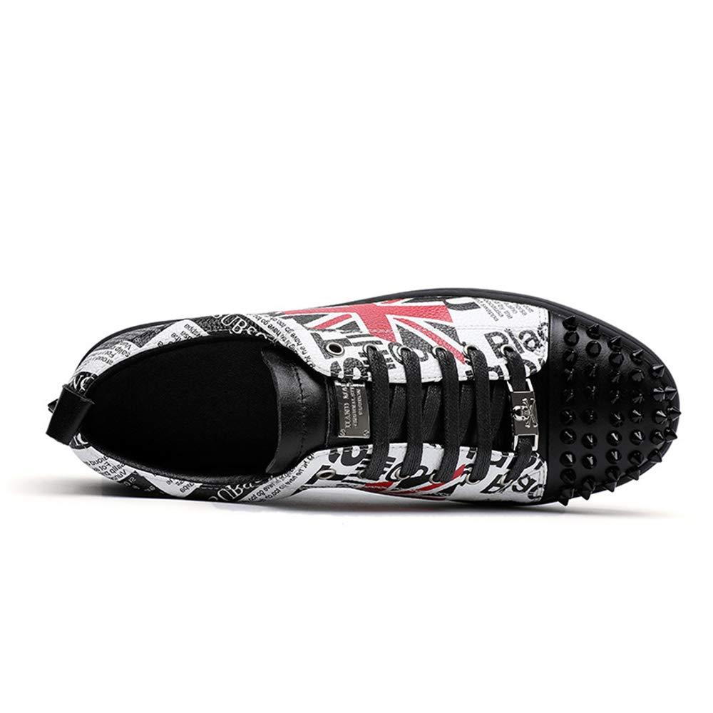 Qiusa Echtes Leder Mode Lace up Sohle Loafers für Männer weiche Sohle up Licht Durable Schuhe (Farbe : Schwarz, Größe : EU 41) Schwarz cc9166