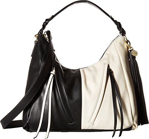Boho-Chic Vacation & Fall Looks - Standard & Plus Size Styless - Steve Madden Women's Bbeckett Hobo Black/Bone Handbag