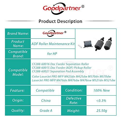 Printer Parts CF288-60015 CF288-60016 A8P79-65001 ADF Feed Pickup Roller Separation PAD for HP Laserjet Pro 400 500 M425 M570 M476 M521 M521dw by Yoton (Image #5)